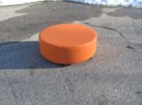 Оранжева мека детска табуретка