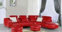 Холна гарнитура в цвят червен