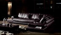 Стилен ъглов кожен диван