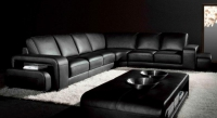 Дизайнерски ъглов диван цвят черно