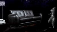 Модерен кожен диван в черно